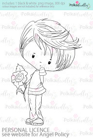 A bunch of flowers/ gift for you boy coloured digital stamp/clipart- Winnie Special Moments...Craft printable download digital stamps/digi scrap kit