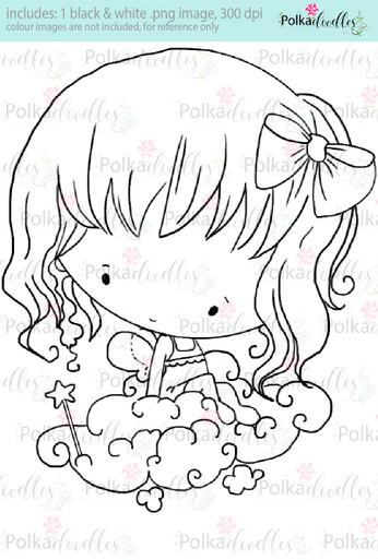 Lil Miss Angel Cloud - Sugarpops Kit 2...Craft printable download digital stamps/digi scrap kit