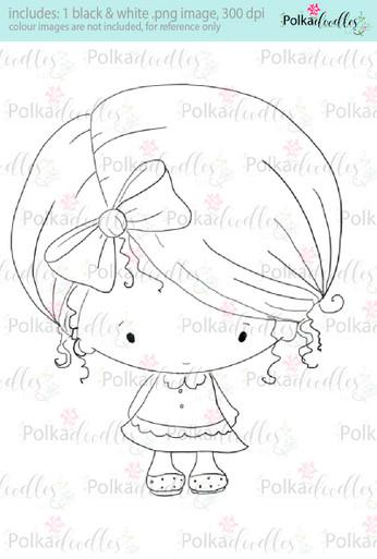 Lil Miss Cute - Sugarpops Kit 2...Craft printable download digital stamps/digi scrap kit