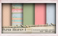 Lil Miss Sugarpops Kit 1 Paper Heaven 2...Craft printable download digital stamps/digi scrap kit