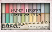Lil Miss Sugarpops Kit 1 Distress Ink papers bundle...Craft printable download digital stamps/digi scrap kit