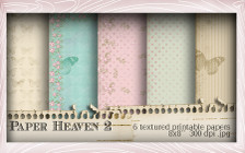 Lil Miss Sugarpops Kit 1 Paper Heaven 1...Craft printable download digital stamps/digi scrap kit