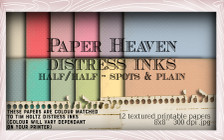 Lil Miss Sugarpops Kit 2 Distress ink papers bundle...Craft printable download digital stamps/digi scrap kit
