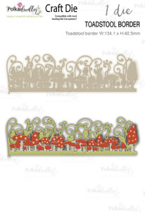 Toadstool border die -  Craft Cutting die