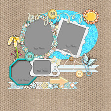Lemon Top Digi Scrap Kit - layout