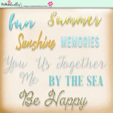 Lemon Top Digi Scrap Kit - word art, text, by the sea, sunshine