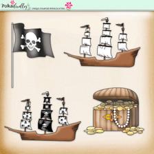 Lemon Top Digi Scrap Kit - pirates, treasure
