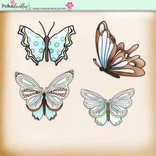 Lemon Top Digi Scrap Kit - butterflies