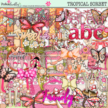 Tropical Sorbet download - digiscrap kit/craft download