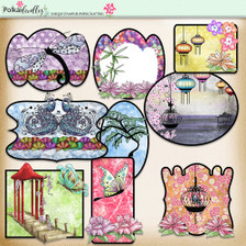 Eastern Dreams download - digiscrap kit/craft printable toppers