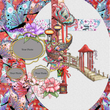 Eastern Dreams download - digiscrap kit/craft layout
