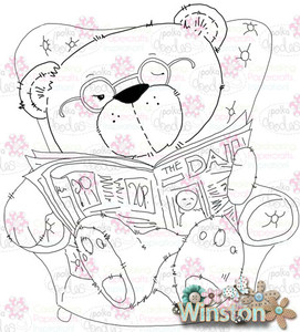 Winston Bear Snoozy Days digital stamp download