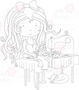 Alyce Sewing Digital Stamp download