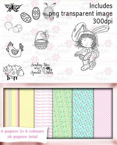 FREE Tatty Twinkle Easter digital craft download