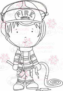 Fireman Jim digital stamp download