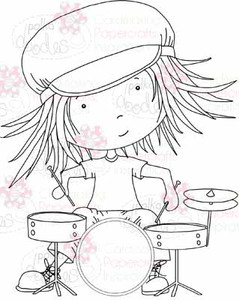 Drummer Troy digital stamp download