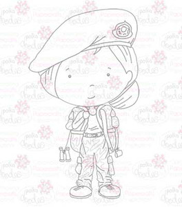 Army Girl digital stamp download