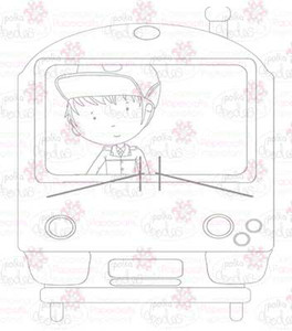 Train Driver digital stamp download