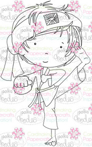 Karate Boy digital stamp download