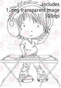 DJ digital stamp download