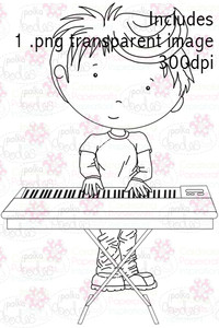 Keyboards/piano Boy digital stamp download