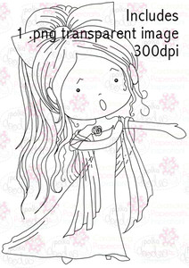 Opera Singer Girl digital stamp download