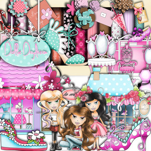 Dollie Daydream Girl Talk Downloadable Craft Collection