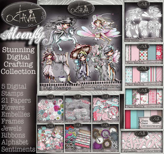 Octavia Moonfly  BIG KAHUNA Digital Craft Download bundle