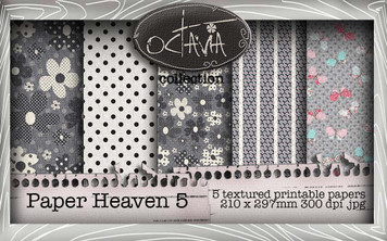 Octavia Moonfly - Paper Heaven 5 Digital Craft Download Bundle