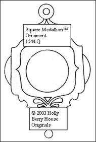 Square Medallion Ornament