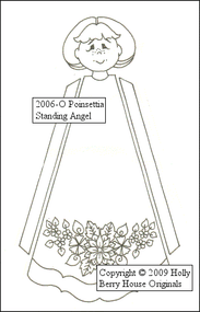 Poinsettia Standing Angel