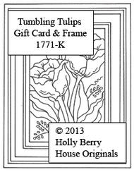 Tumbling Tulips Gift Card & Frame