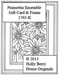 Poinsettia Ensemble Gift Card & Frame
