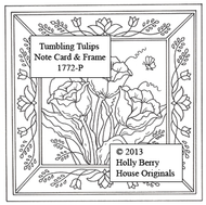 Tumbling Tulips Note Card & Frame