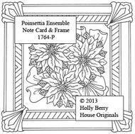 Poinsettia Ensemble Note Card & Frame