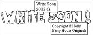 Write Soon