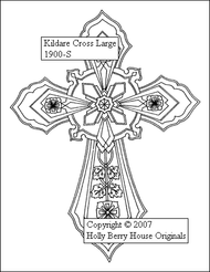 The Kildare Cross rubber art stamp.