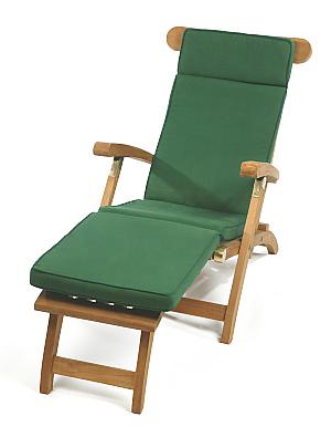 Cotswold Teak Steamer Chair Cushion Green Or Blue