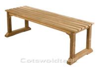 Cotswold Teak Esthwaite 120cm backless bench.