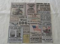 Union Civil War Recruiting Posters 12x12 Scrapbook Paper