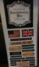 Revolutionary War Battle Scrapbook Stickers