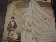 Union Drummer and Tattered Flag Scrapbook Paper