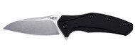 "Zero Tolerance ZT 0770 Assisted Opening Folding Knife, 3.25"" Plain Edge Blade, Black Aluminum Handle"