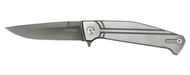 "Kershaw Nura 3.5 4035TIKVT Folding Pocket Knife, 3.5"" Plain Edge Blade, Stainless Steel Handle"