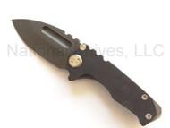 """Medford Knives Micro Praetorian, Oxide 2.8"""" D2 Blade, G-10/ Flame Ti"""