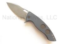 "Ferrum Forge Knife Works AFY Model 8 Knife, 3.75"" Z-FiNit Blade, Ti"
