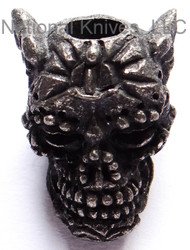 "Schmuckatelli Aquilo Sugar Skull Bead AB, 3/16"" Hole, Black Oxide Finish"
