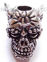 "Schmuckatelli Aquilo Sugar Skull Bead AP, 3/16"" Hole, Solid Pewter"