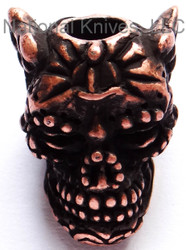 "Schmuckatelli Aquilo Sugar Skull Bead ARCO, 3/16"" Hole, Roman Copper Oxide Plated"