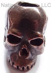 """Schmuckatelli Classic Skull Bead CORBO, 3/16"""" Hole, Solid Oil Rubbed Bronze"""